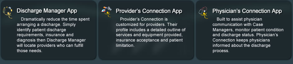 suite of products from Health Care Connection's Case Manager